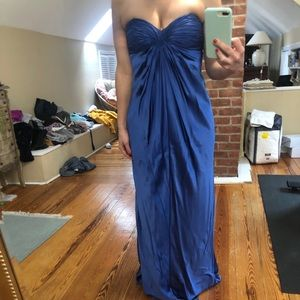 BEAUTIFUL SEA BLUE GOWN!!!! ONLY WORN ONCE!